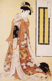 Het traditionele kostuum van Japan Stock Foto