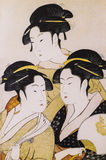 Het traditionele kostuum van Japan stock foto's