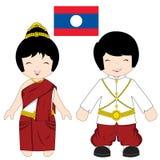 Het traditionele kostuum van Laos Stock Fotografie