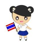 Het traditionele kostuum van Thailand Stock Foto