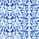 Het traditionele Naadloze Patroon van Portugal Azulejo royalty-vrije illustratie