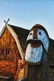 Het traditionele oude huis van de Leeftijd van Viking Royalty-vrije Stock Foto