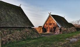 Het traditionele oude huis van de Leeftijd van Viking Stock Fotografie