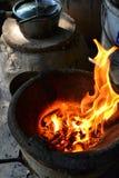 Het traditionele oven koken Stock Foto's