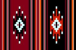Het traditionele Patroon van de Symbolen Met de hand gemaakte Uitstekende Wevende Deken royalty-vrije illustratie