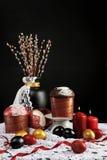 Het traditionele Russisch-Orthodoxe Paschal voedsel van Pasen Stock Foto's