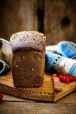 Het traditionele Russische brood van roggeborodino Stock Foto's