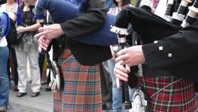 Het traditionele Schotse Doedelzak Zingen stock video