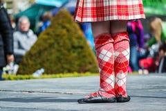 Het traditionele Schotse Hoogland dansen Royalty-vrije Stock Foto