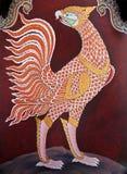 Het traditionele Thaise kunst schilderen in Wat Phra Kaew Royalty-vrije Stock Afbeeldingen