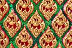 Het traditionele Thaise patroon van de stijlkunst Stock Foto's