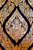Het traditionele Thaise stijl inheemse kunst schilderen royalty-vrije stock foto