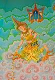 Het traditionele Thaise stijlkunst schilderen Royalty-vrije Stock Afbeelding