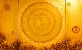 Het traditionele Thaise stijlkunst schilderen Stock Fotografie