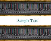 Het traditionele Thaise stijlkunst schilderen op tempel Royalty-vrije Stock Foto's