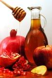 Het Traditionele Voedsel van Hashanah van Rosh Stock Afbeelding