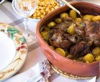 Het traditionele voedsel van Portugal Stock Foto's