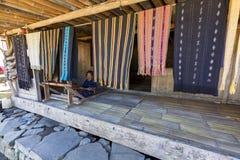 Het traditionele Weven stock afbeeldingen