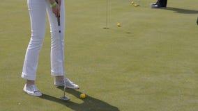 Het trainen Golf stock videobeelden
