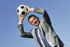Het trainen voetbal stock foto