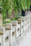 Het traliewerk van de steen Stock Foto's