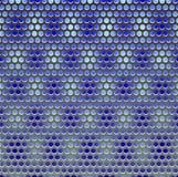 Het traliewerk van het metaal op blauw Stock Afbeeldingen
