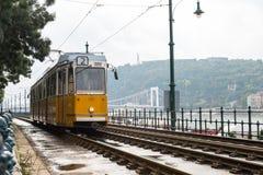 Het tramspoor van Boedapest Royalty-vrije Stock Fotografie