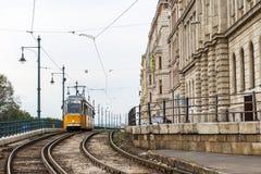 Het tramspoor van Boedapest Stock Afbeelding