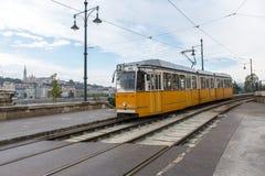 Het tramspoor van Boedapest Royalty-vrije Stock Foto's
