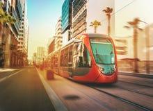 Het tramspoor van Casablanca Stock Foto's