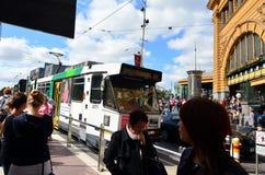Het tramspoornetwerk van Melbourne Stock Fotografie