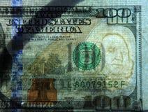 Het transparante geld van de dollarrekening Stock Foto's
