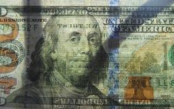 Het transparante geld van de dollarrekening Stock Afbeeldingen