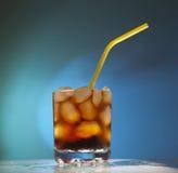 Het transparante glas van het glas met ijs Royalty-vrije Stock Foto