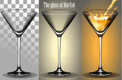 Het transparante Glas van Martini Royalty-vrije Stock Foto