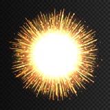 Het transparante lichte effect van het gloedvuurwerk Geïsoleerde vonken voor tussenvoegsel uw ontwerp Vector illustratie Eps 10 stock illustratie