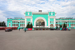 Het Transsiberische station van Novosibirsk royalty-vrije stock fotografie