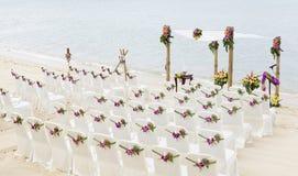 Huwelijk op het strand. royalty-vrije stock afbeelding