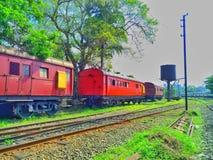 Het treinbeeld stock foto's
