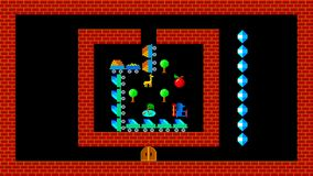Het treinraadsel, retro stijl lage resolutie pixelated spelgrafiek royalty-vrije illustratie