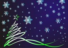 Het trekken in lijnen. Kerstmis boom Stock Foto