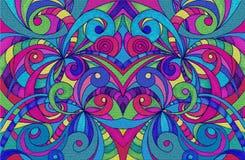 Het trekken van bloemen abstracte achtergrond Stock Afbeelding