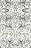 Het trekken van bloemen abstracte achtergrond Stock Afbeeldingen