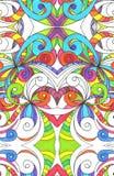 Het trekken van bloemen abstracte achtergrond Stock Foto