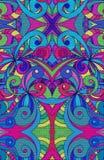 Het trekken van bloemen abstracte achtergrond Royalty-vrije Stock Afbeelding