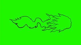 Het trekken van 2D Animatie vector illustratie