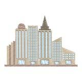 het trekken van de bouw collectieve stad Stock Afbeeldingen