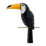 Het trekken van de Braziliaanse aard van de toekanvogel Royalty-vrije Stock Afbeelding