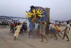 Het trekken van Durga Idol Royalty-vrije Stock Foto