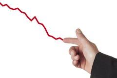 Het trekken van een benedenwaartse grafiek Royalty-vrije Stock Afbeelding